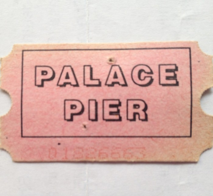 Ticket from the Palace Pier