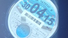 Car tax disc on windsceen
