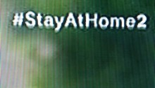 StayAtHome2 on TV screen